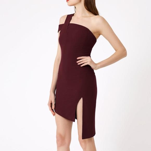 ed1bd66c9f15 NWT AQ AQ Plum Candace Mini Dress